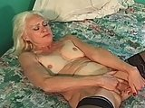 Blond Oldie Gets Good and Hard Fucking